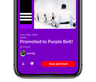 Share your latest belt promotion and more.